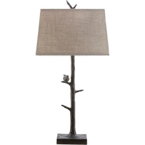 Surya weber bronze rustic table lamp