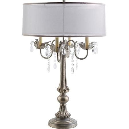 Ivory Glam Floor Lamp