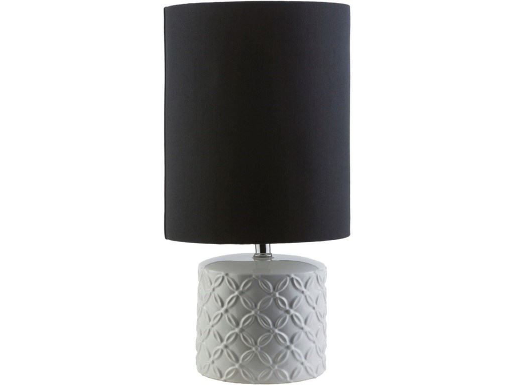 Surya WhitsettWhite Modern Table Lamp