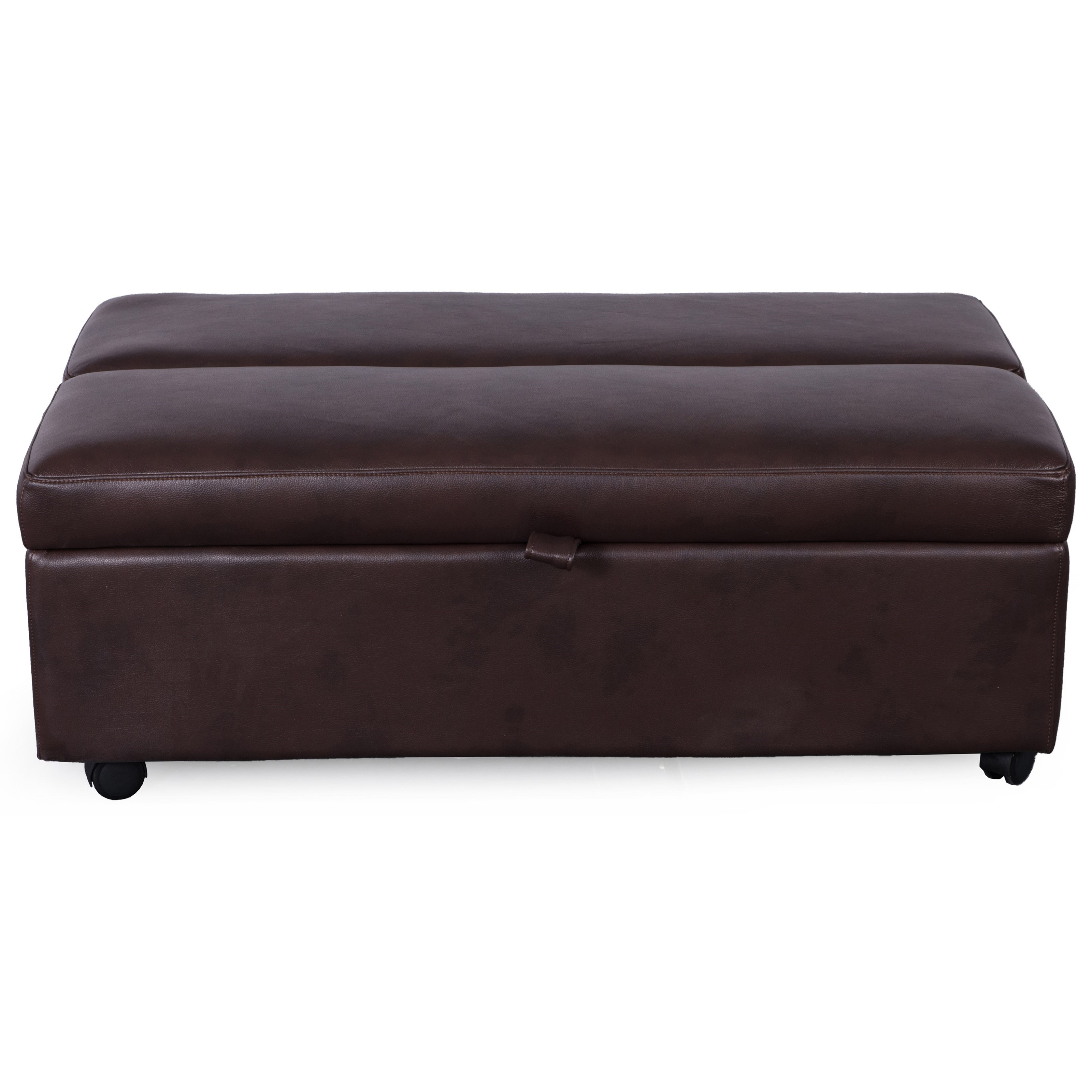 Synergy Home Furnishings 1021 Sleeper Ottoman With Pullout Twin Mattress