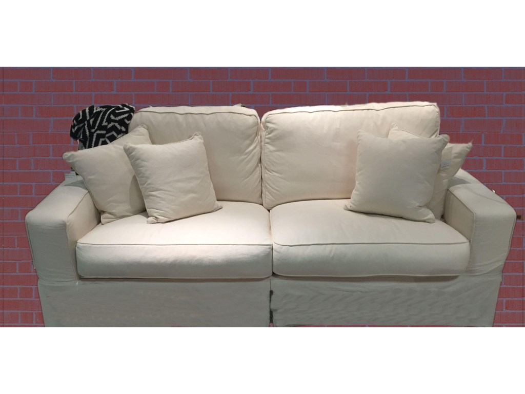 Synergy Home Furnishings Montague CreamSlipcover Sofa