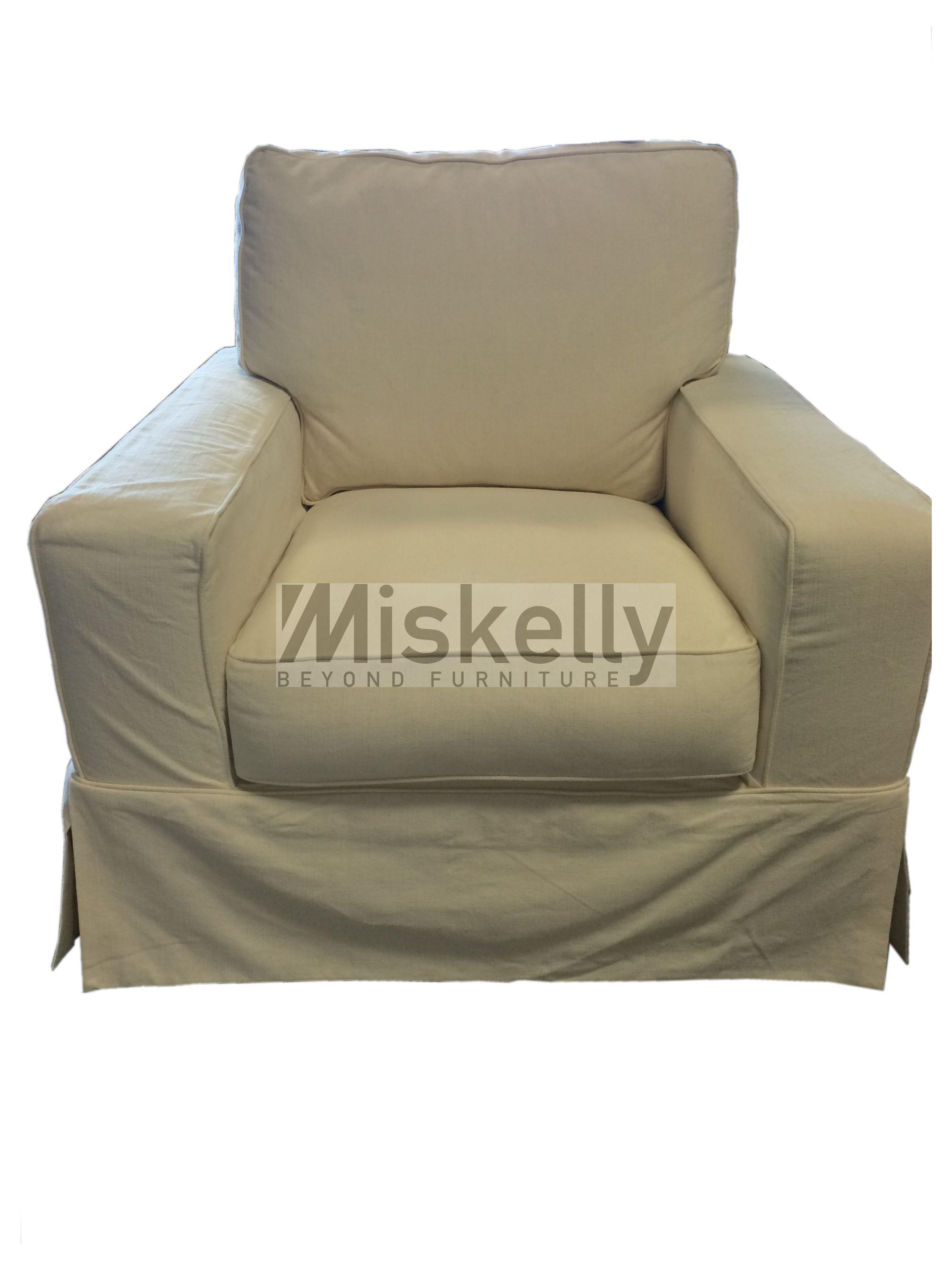 Synergy Home Furnishings Montague Cream Eclectic Slipcover Chair