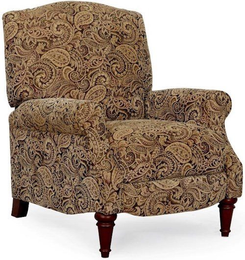 Synergy Home Furnishings 1090 Traditional Three Way Recliner with Turned Legs