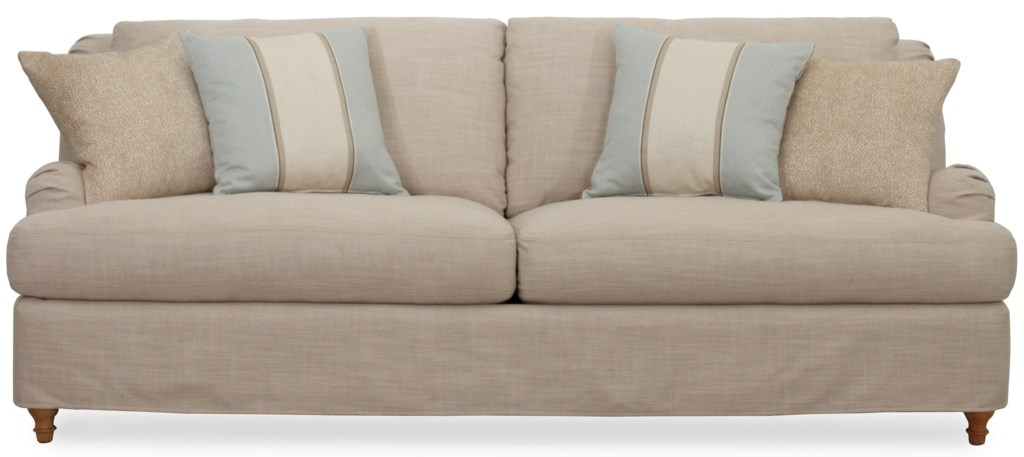 Synergy Home Furnishings 1164 Slipcovered Sofa with English Rolled