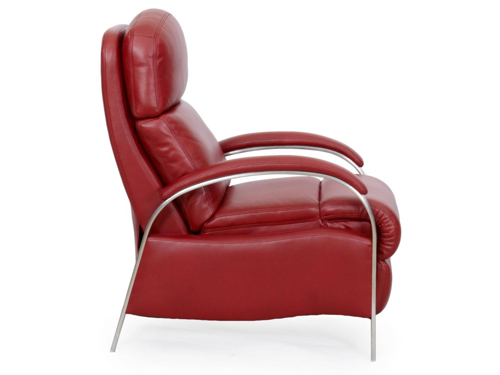 LDI 1238Contemporary Push Thru Recliner