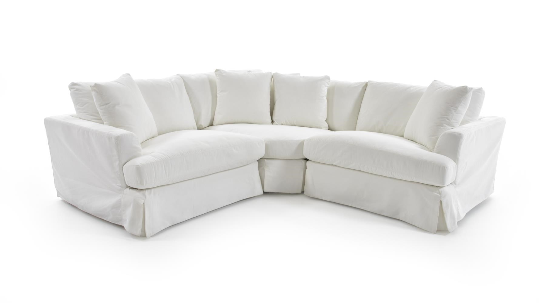 Synergy Home Furnishings 1300 1300 31+64+32 PEARL Three Piece Corner  Sectional Sofa With Slipcover
