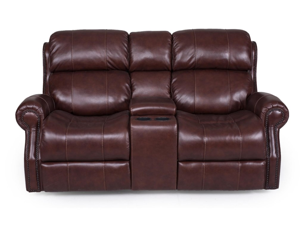Synergy Home Furnishings 1628Power Reclining Console Loveseat