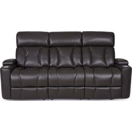 Power Rec. Sofa w/ Pwr Headrest & Drop Table