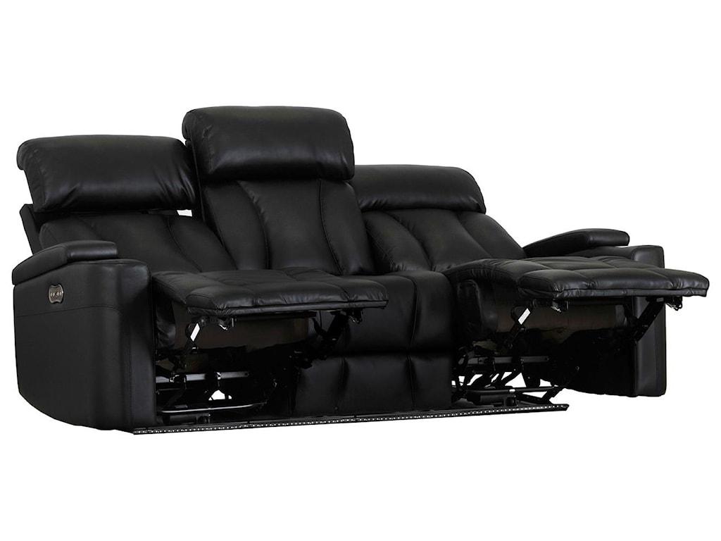 Builtwell 1637Power Rec. Sofa w/ Pwr Headrest & Drop Table