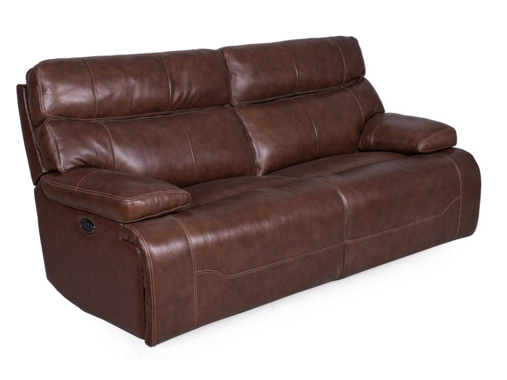 Synergy Home Furnishings 1684Reclining Sofa w/pwr Headrest & Lumbar