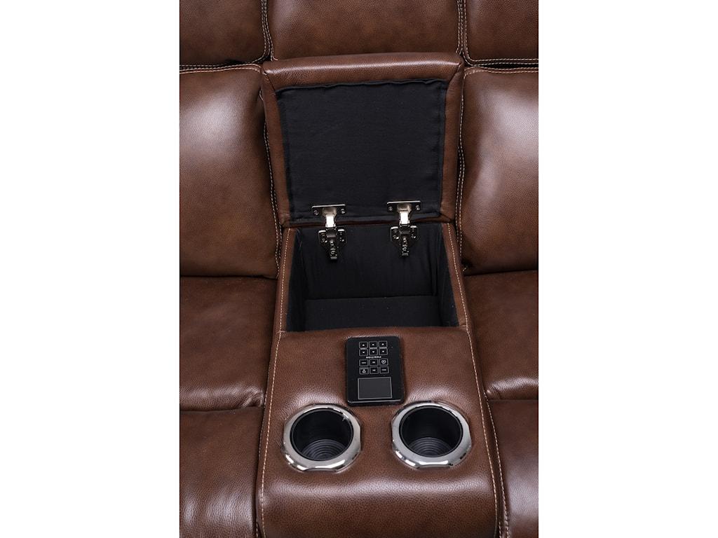 Synergy Home Furnishings 1684Reclining Console Love w/pwr Head & Lumbar