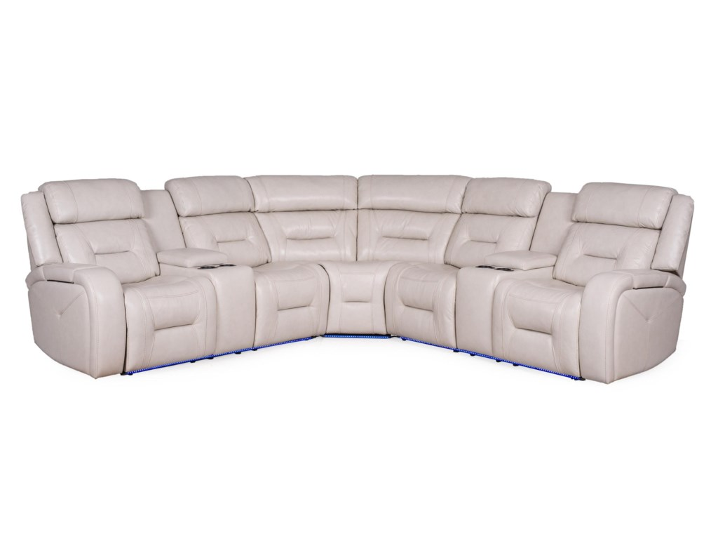 Sarah Randolph Designs 1695Power Headrest Reclining Sectional