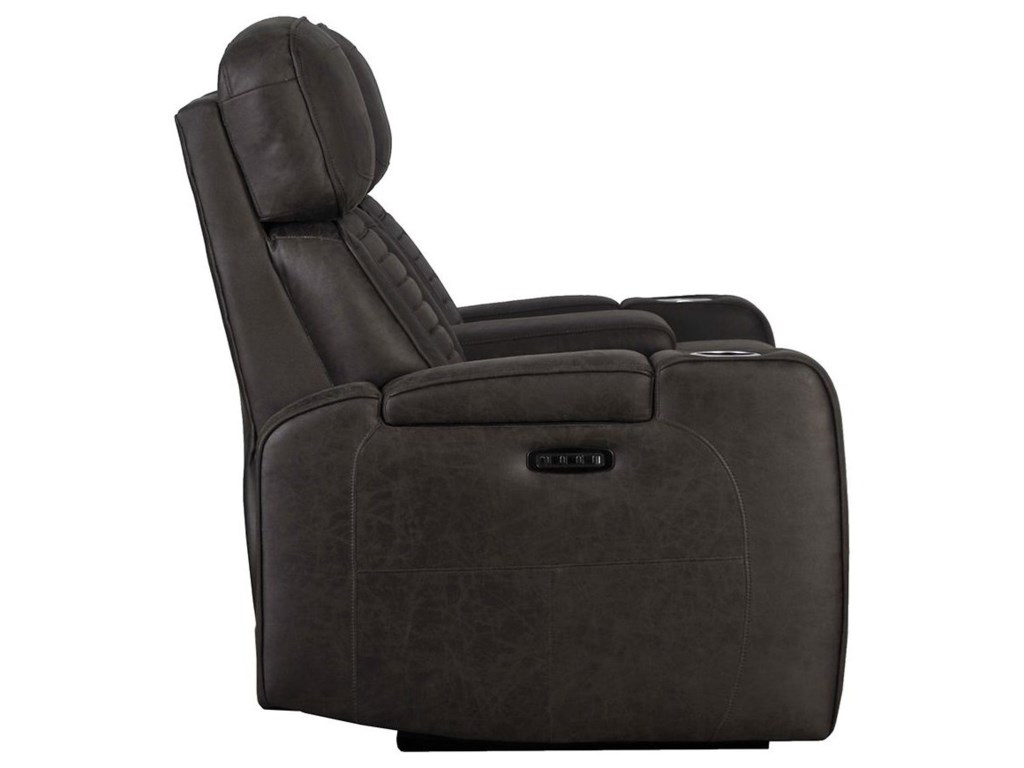 Builtwell 35776Power Reclining Console Loveseat