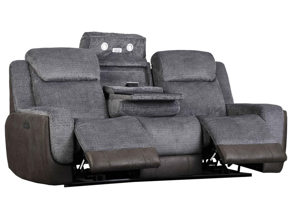 Builtwell 34488Reclining Sofa with Power Headrests