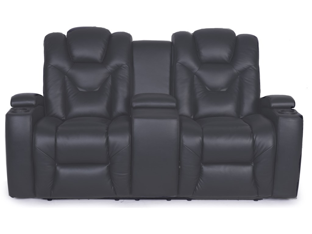 Synergy Home Furnishings 377Power Console Loveseat