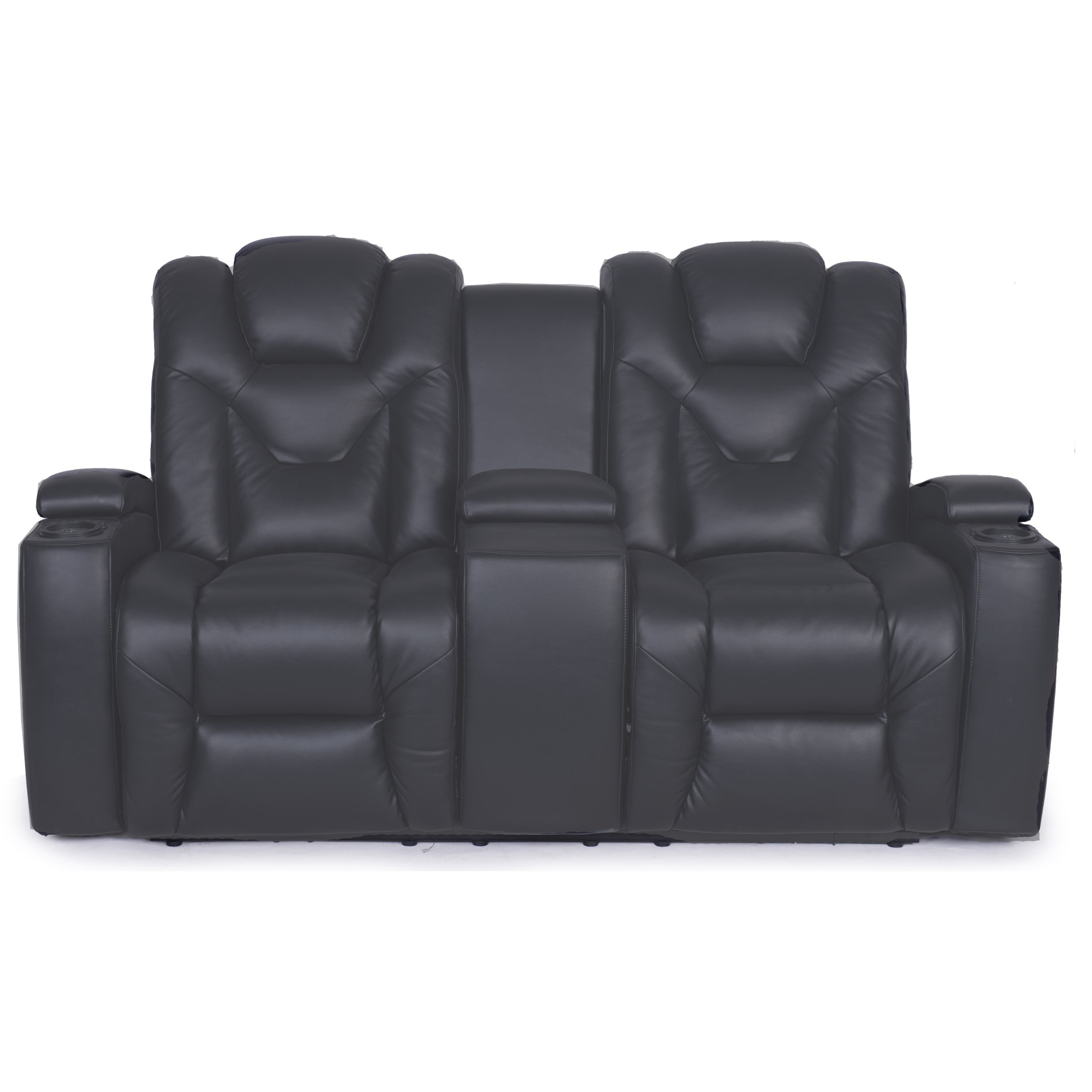 Synergy Home Furnishings 377 Power Reclining Loveseat With Storage Console  And Storage Arms   Zaku0027s Fine Furniture   Reclining Love Seats