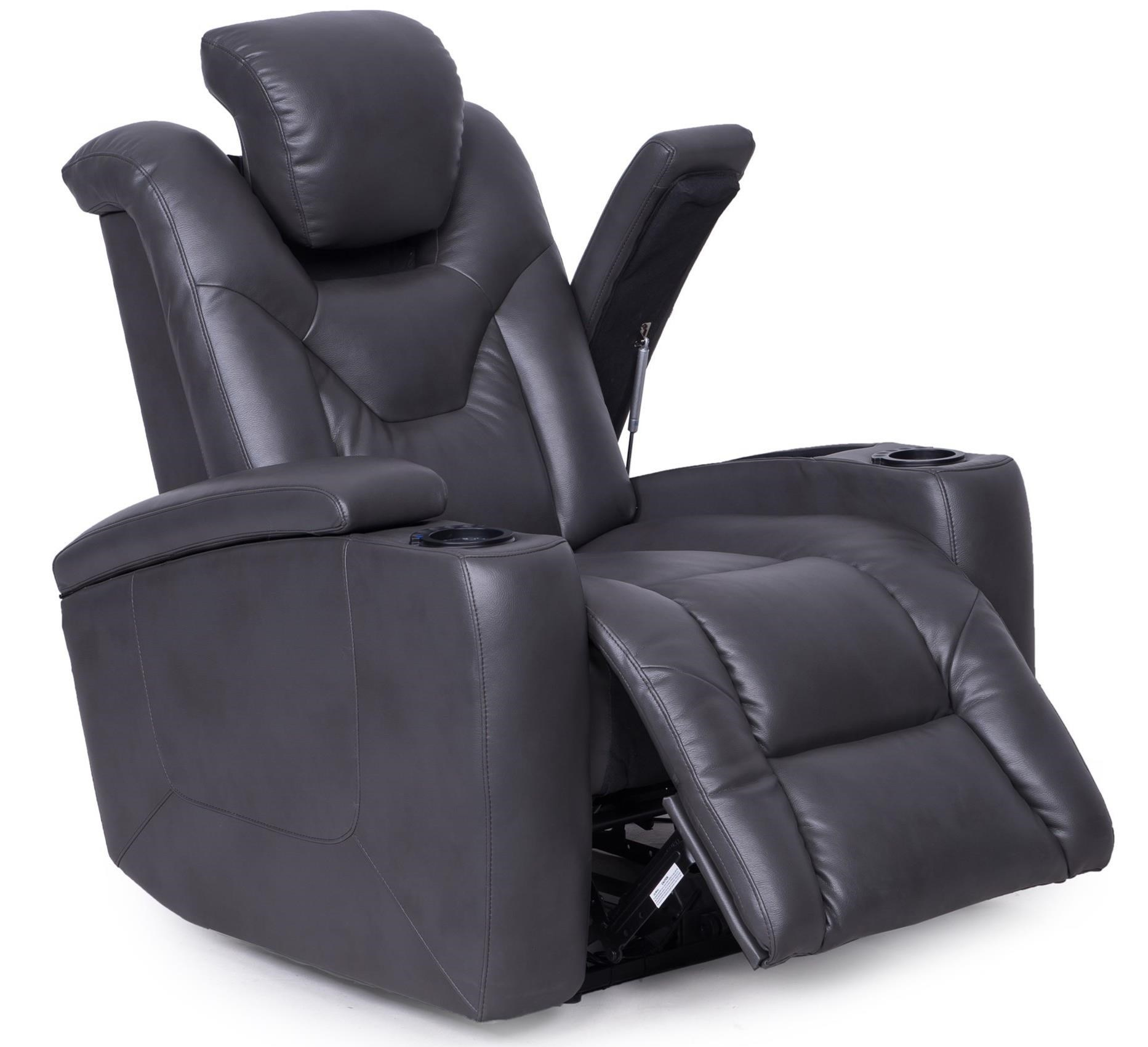 Synergy Home Furnishings 377 Power Recliner with Hidden Storage Compartments  sc 1 st  Zaku0027s Fine Furniture & Synergy Home Furnishings 377 Power Recliner with Hidden Storage ... islam-shia.org