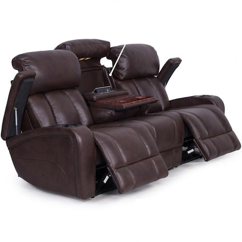 Synergy home furnishings 417 casual power reclining sofa with storage and cup holders rife 39 s Loveseat with cup holders