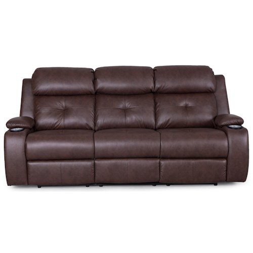 Synergy Home Furnishings 446 Reclining Sofa w/ Power Headrests