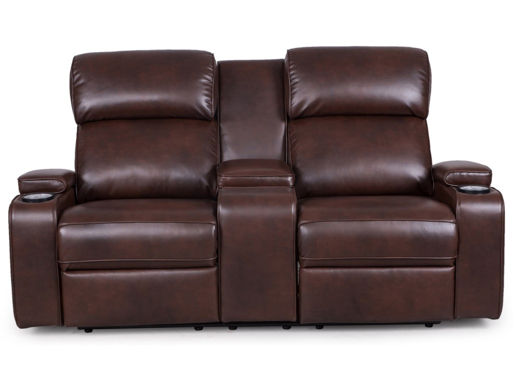 by furniture reclining factory england loveseat center console recliningloveseatwithconsole tour with