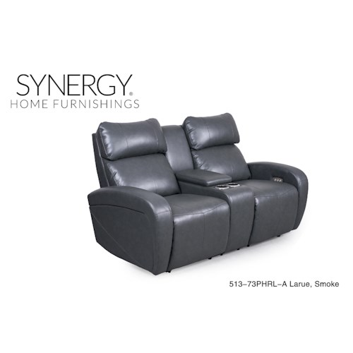 Synergy Home Furnishings 513 Seal Reclining Love seat