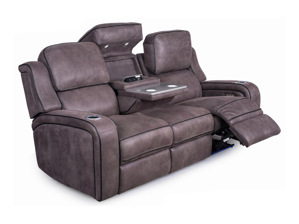 Synergy Home Furnishings Smart Comfort 514App-Controlled Reclining Sofa