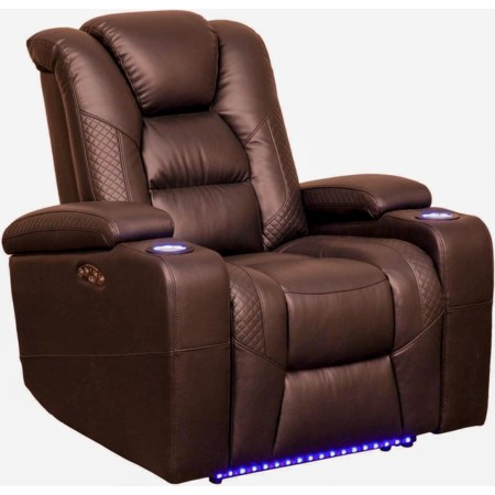 Power Reclining LED Recliner
