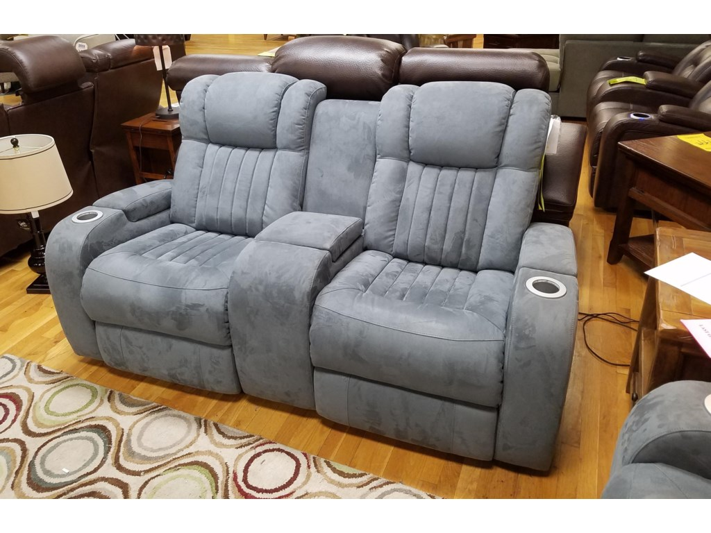 Synergy Home Furnishings 1450Power Reclining Console Loveseat with Power