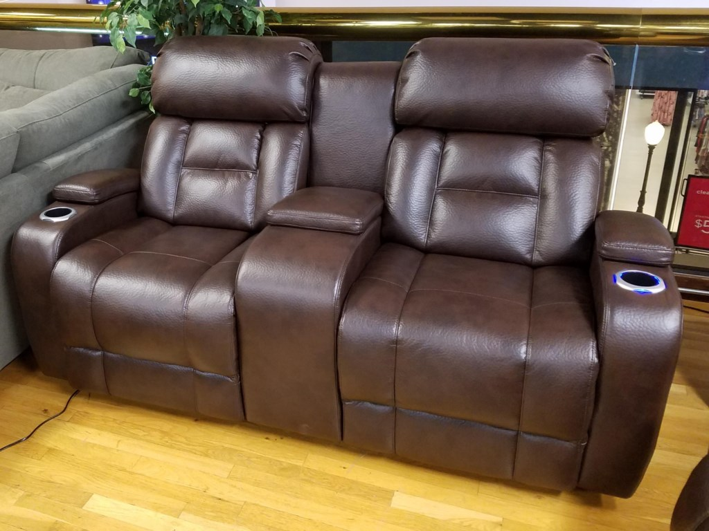 Synergy Home Furnishings 540Power Reclining Console Loveseat with Power
