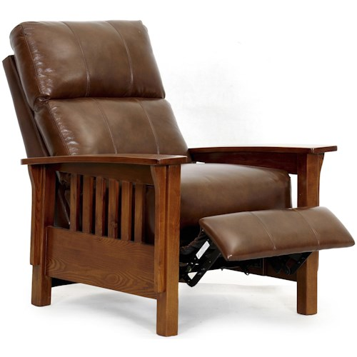 Synergy Home Furnishings 601  Three Way Recliner with Push Thru Arms