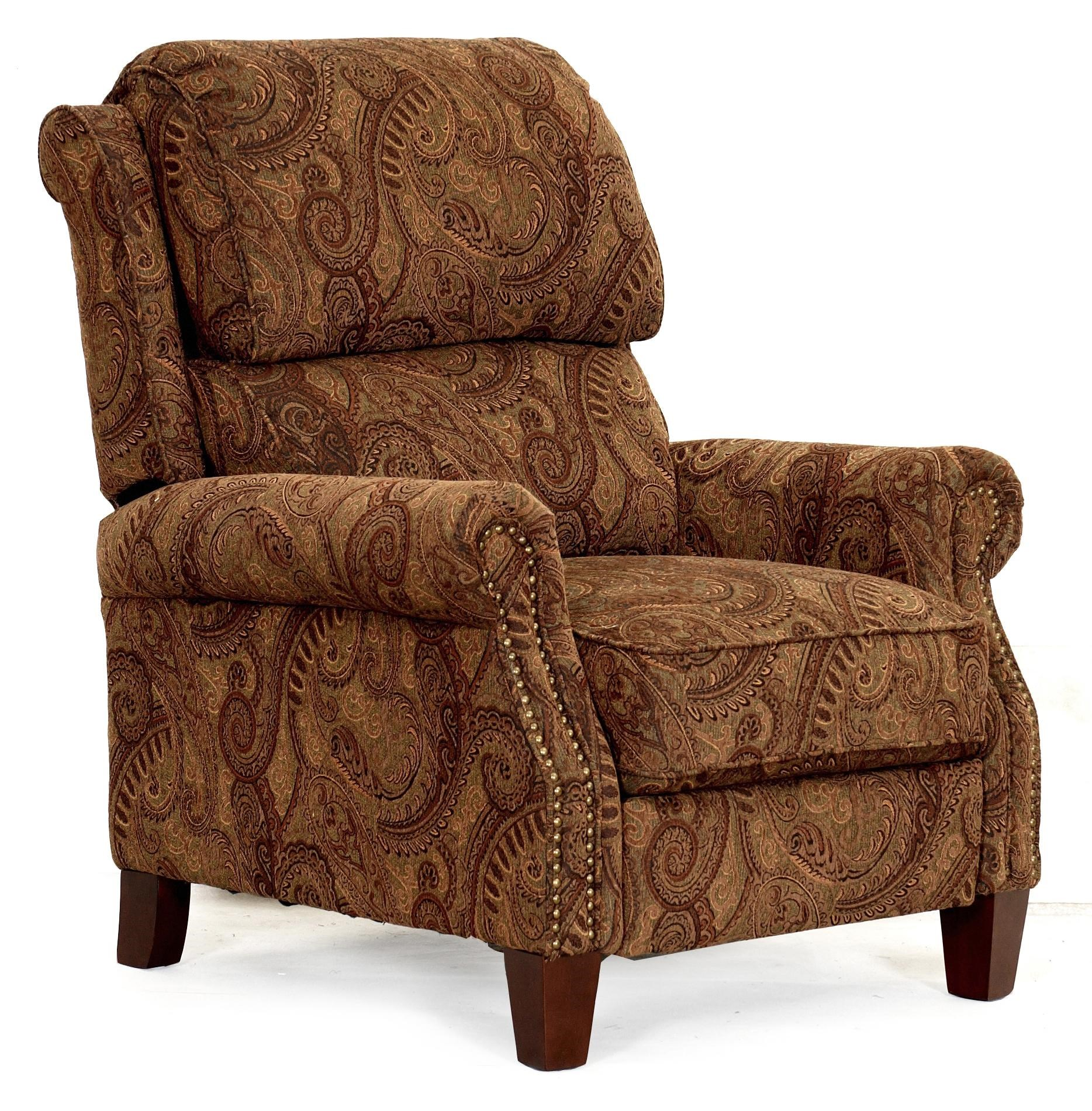 Synergy Home Furnishings 689 Transitional High Leg Recliner With Push Thru  Arms