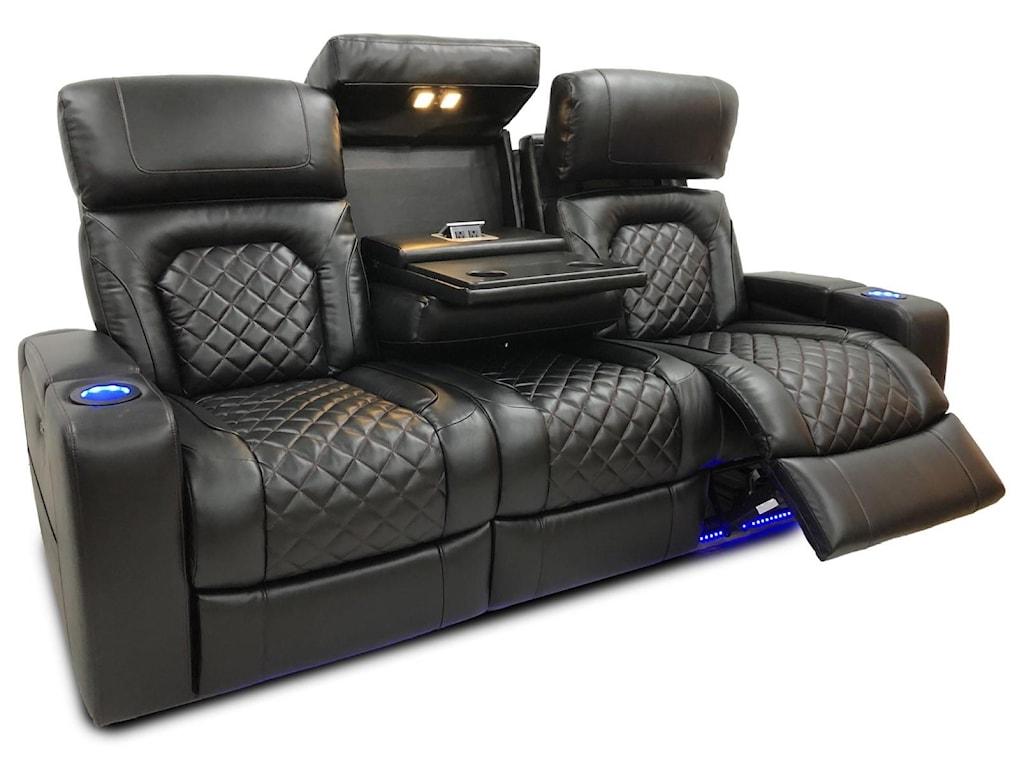 Synergy Home Furnishings DeLoreanReclining Sofa w/Power Headrest
