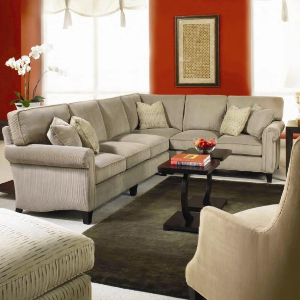 Taylor King Cozy Creations Customizable Upholstered Sectional Sofa