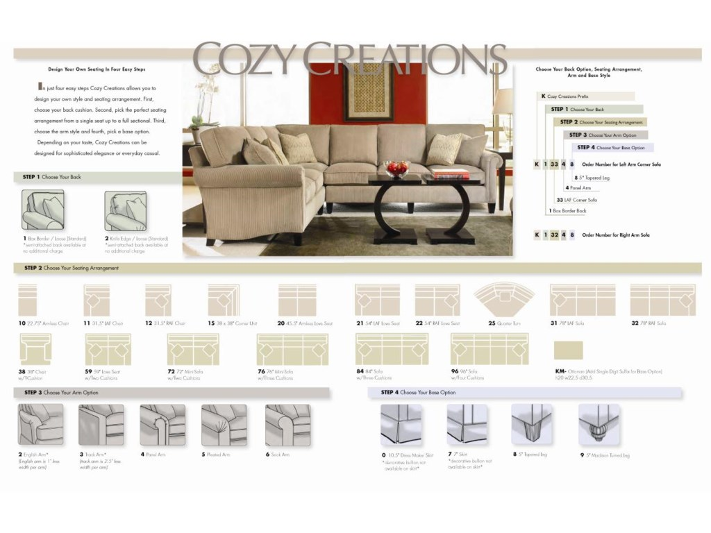Taylor King Cozy CreationsCustomizable Arm Chair & Ottoman