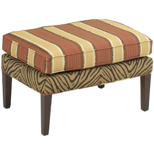 Temple Furniture 6300 Ottoman with Tapered Wood Legs