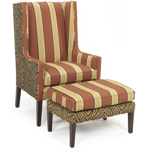 Temple Furniture 6300 Upholstered Chair & Ottoman