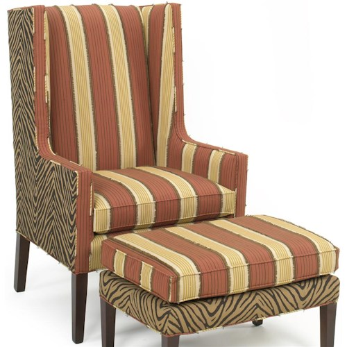 Temple Furniture 6300 Upholstered Chair with Tapered Wood Legs