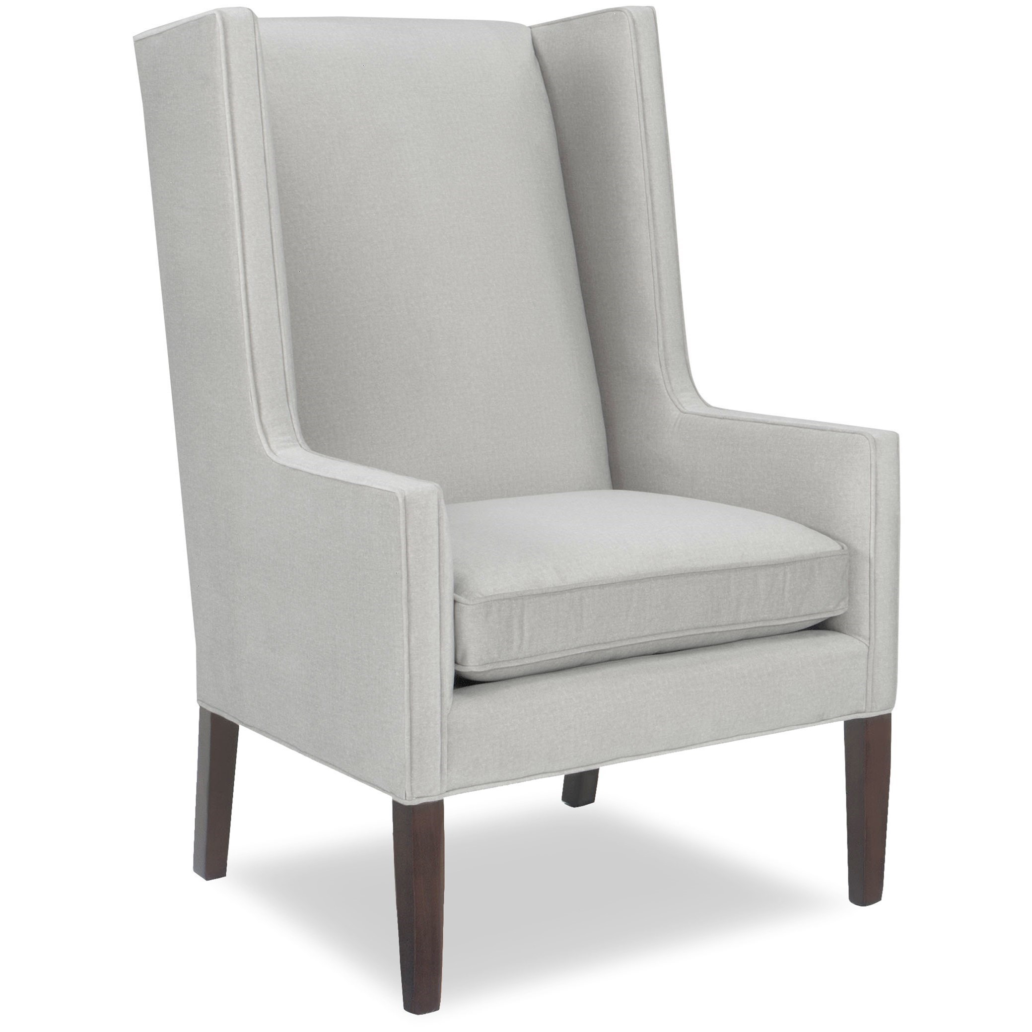Upholstered Chair with Tapered Wood Legs