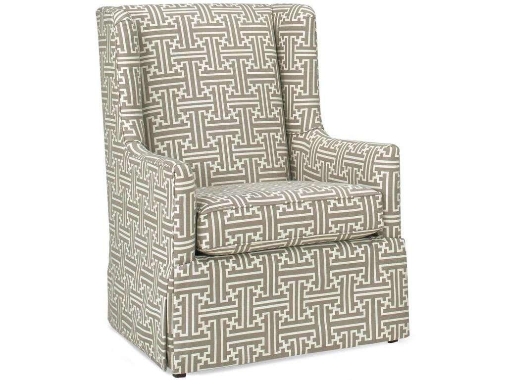 Temple Furniture Accent ChairsTransitional Wing Back Chair
