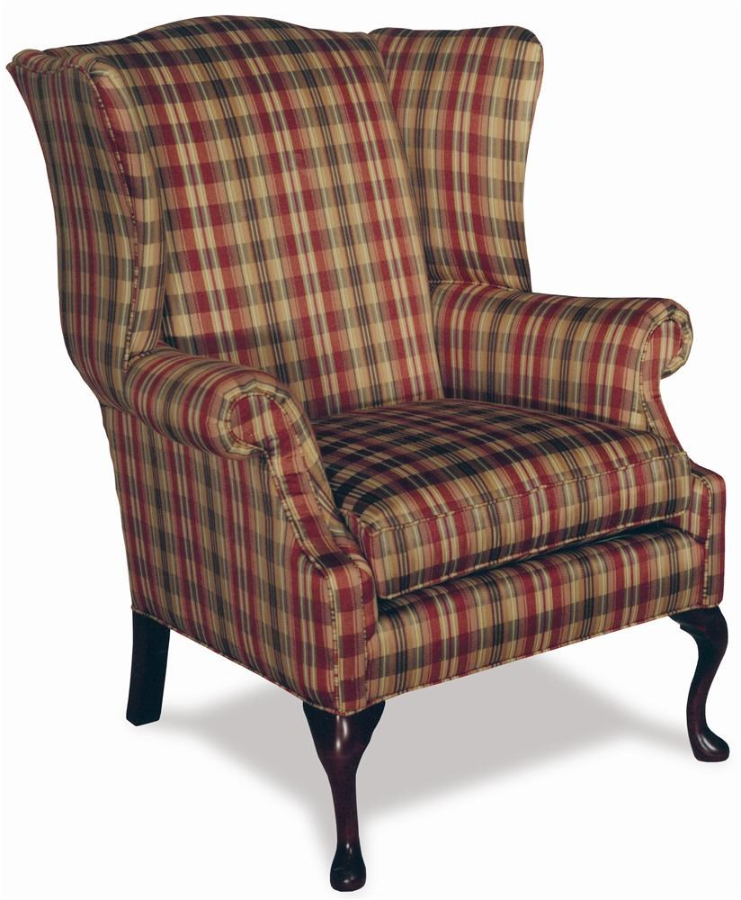 Temple Furniture Accent Chairs High Leg Traditional Wing Chair
