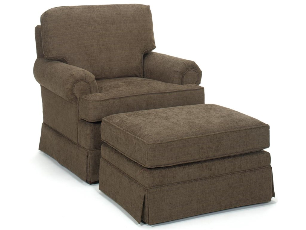 Temple Furniture AmericaUpholstered Chair & Ottoman