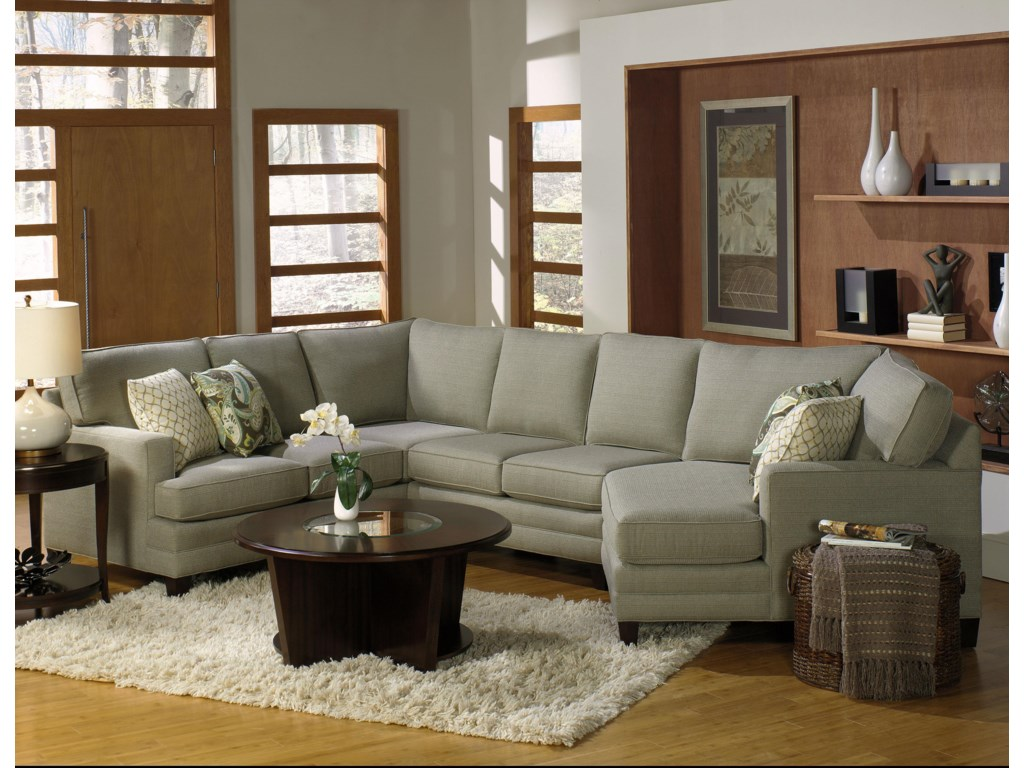 Temple Furniture Tailor MadeSectional with Cuddle