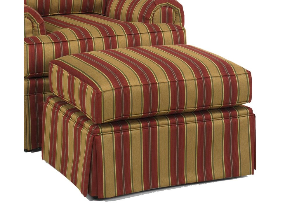 Temple Furniture Winston Ottoman With Skirt Sheely S Furniture