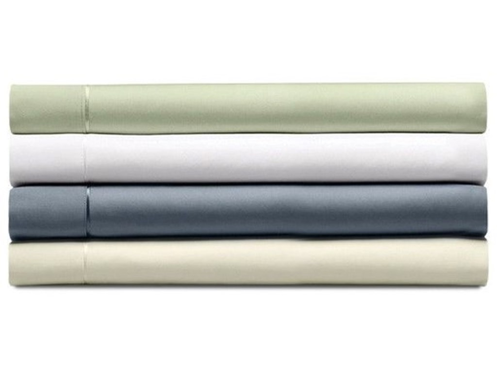 Tempur-Pedic® Demension III Sheets WhiteSplit Queen White Pima Cotton Sheet Set