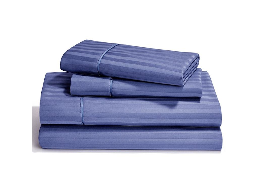 Tempur-Pedic® Egyptian Cotton Sheet SetsQueen Denim Flat Sheet Set