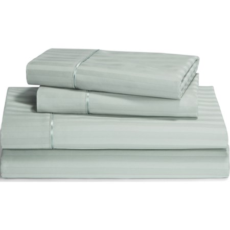 Queen Pale Green Egyptian Cotton Sheet Set