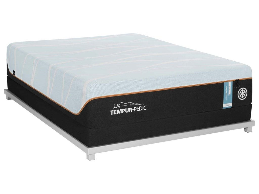 Tempur-Pedic® LUXEbreeze° FirmSplit Cal King Tempur Material Mattress Set