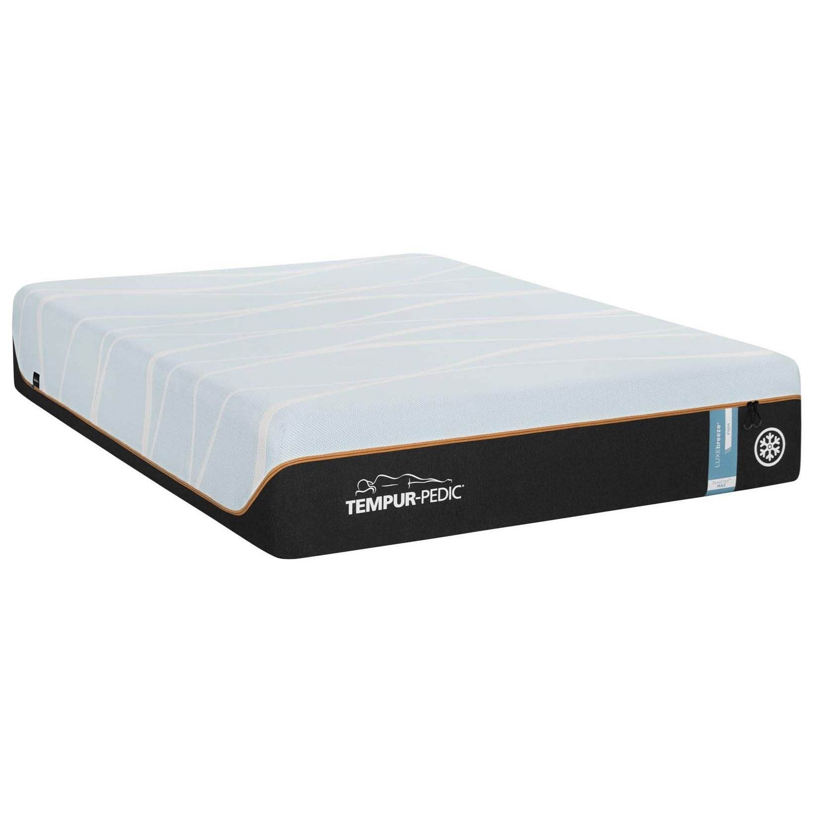 Cal King TEMPUR-LUXEbreeze°™ Firm Mattress and TEMPUR-PEDIC ERGO with SLEEPTRACKER® SmartBase