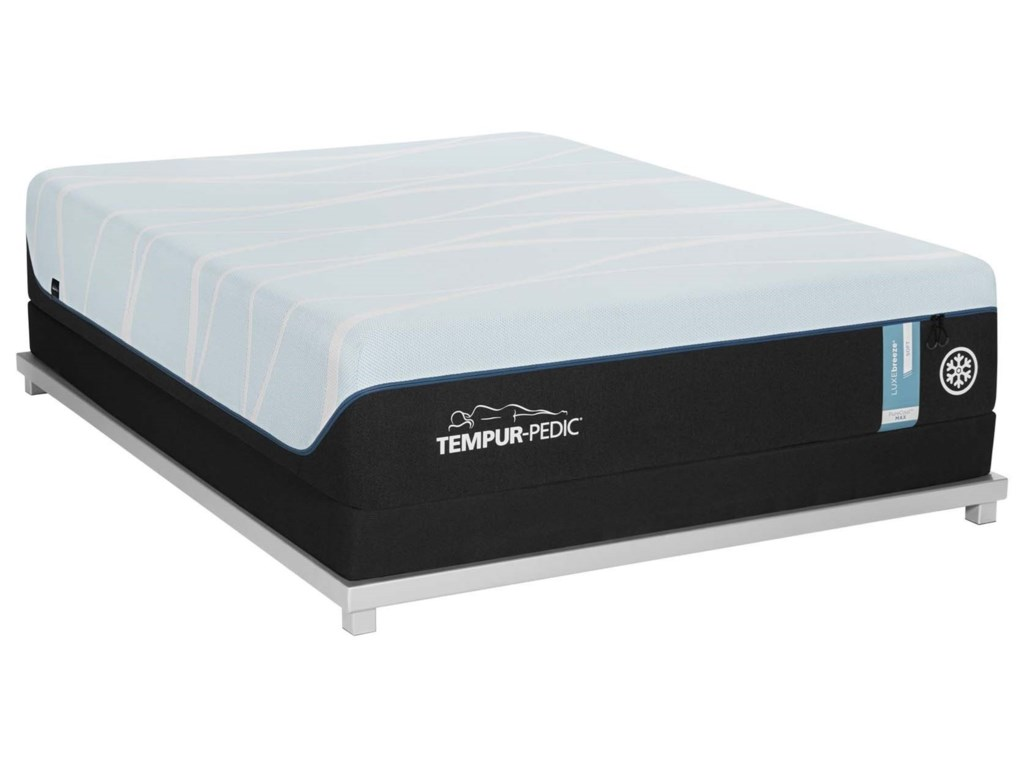 Tempur-Pedic® LUXEbreeze° PlushTwin XL Tempur Material Mattress Set