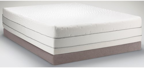 Tempur-Pedic® TEMPUR-Choice?  Luxe Twin Extra Long Medium Firm to Soft Mattress and High Profile Grey Foundation
